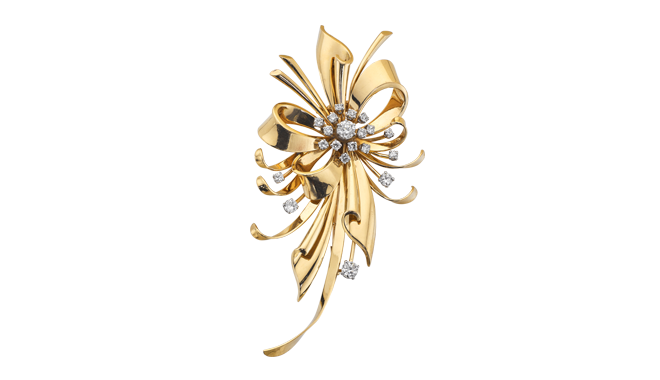 VSS600 | French. Mid C20th. A Diamond set 'Spray' Brooch (Est.: 1.87cts)